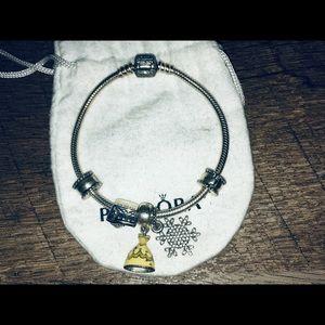 Pandora Disney belle snowflake cruise bracelet